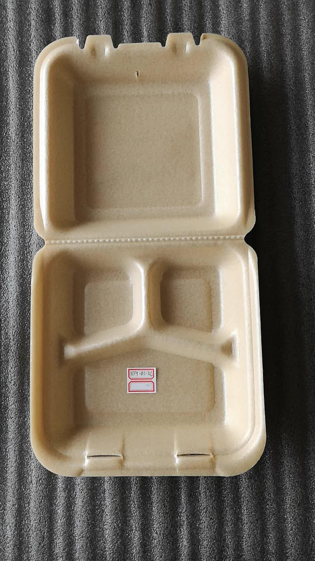 Одноразовые пены Биоразлагаемых Фаст упаковки для пищевых контейнеров с крышками