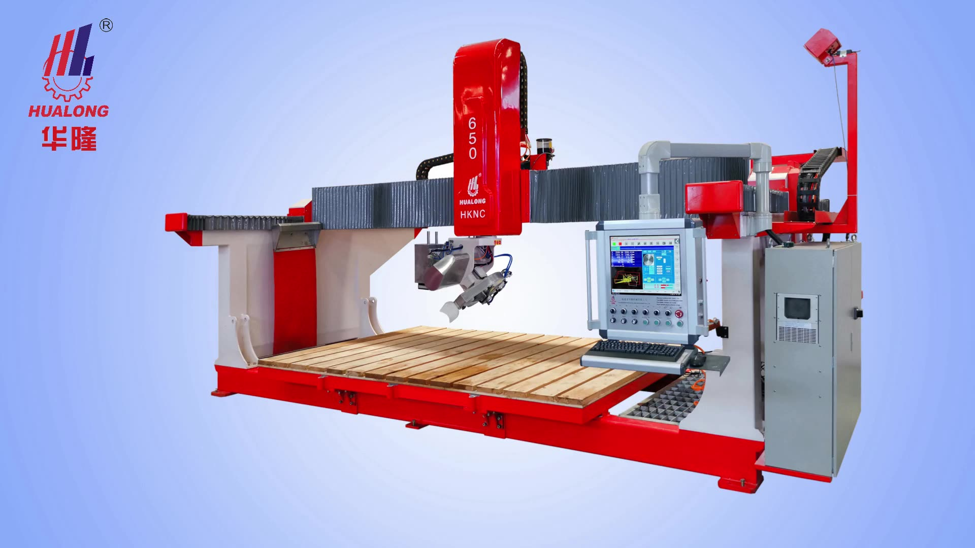 HUALONG machinery HKNC-650X multipurpose bridge saw CNC Stone  Cutting Machine 5 axis for granite marble slab countertop