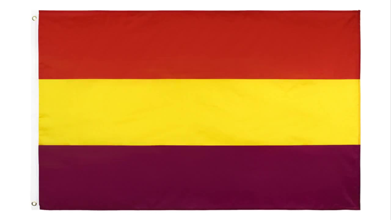 Wholesale 100% Polyester 3x5ft Stock Red Yellow Purple Military Spanish Empire Flag