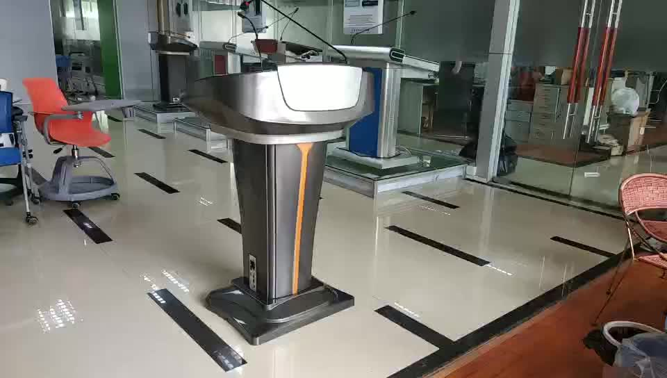 Multimedia Lectern Plastic Podium for modern classroom/E-class room/e-station 21.5INCH touch screen