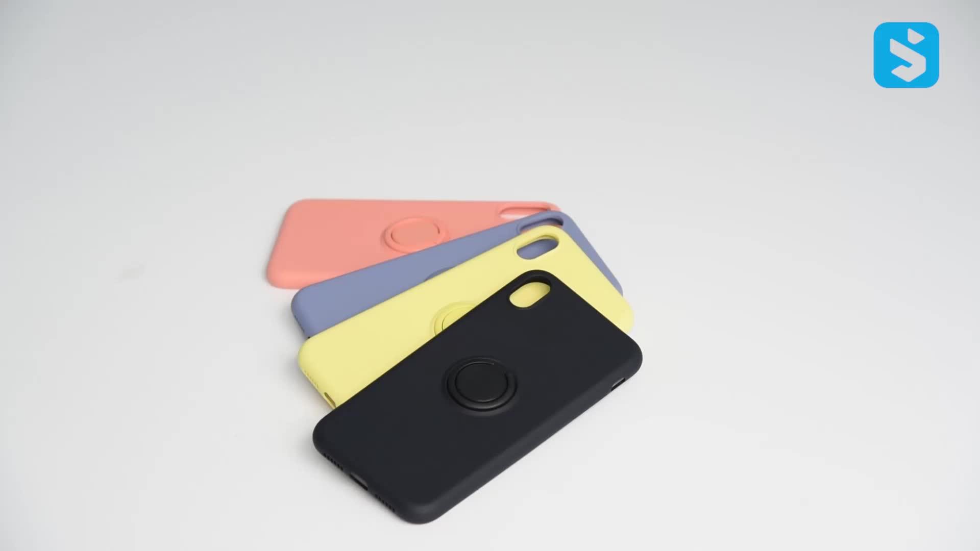 Оптовая продажа жидкий силиконовый чехол с кольцом для iphone xs max, чехол для мобильного телефона для apple xs max