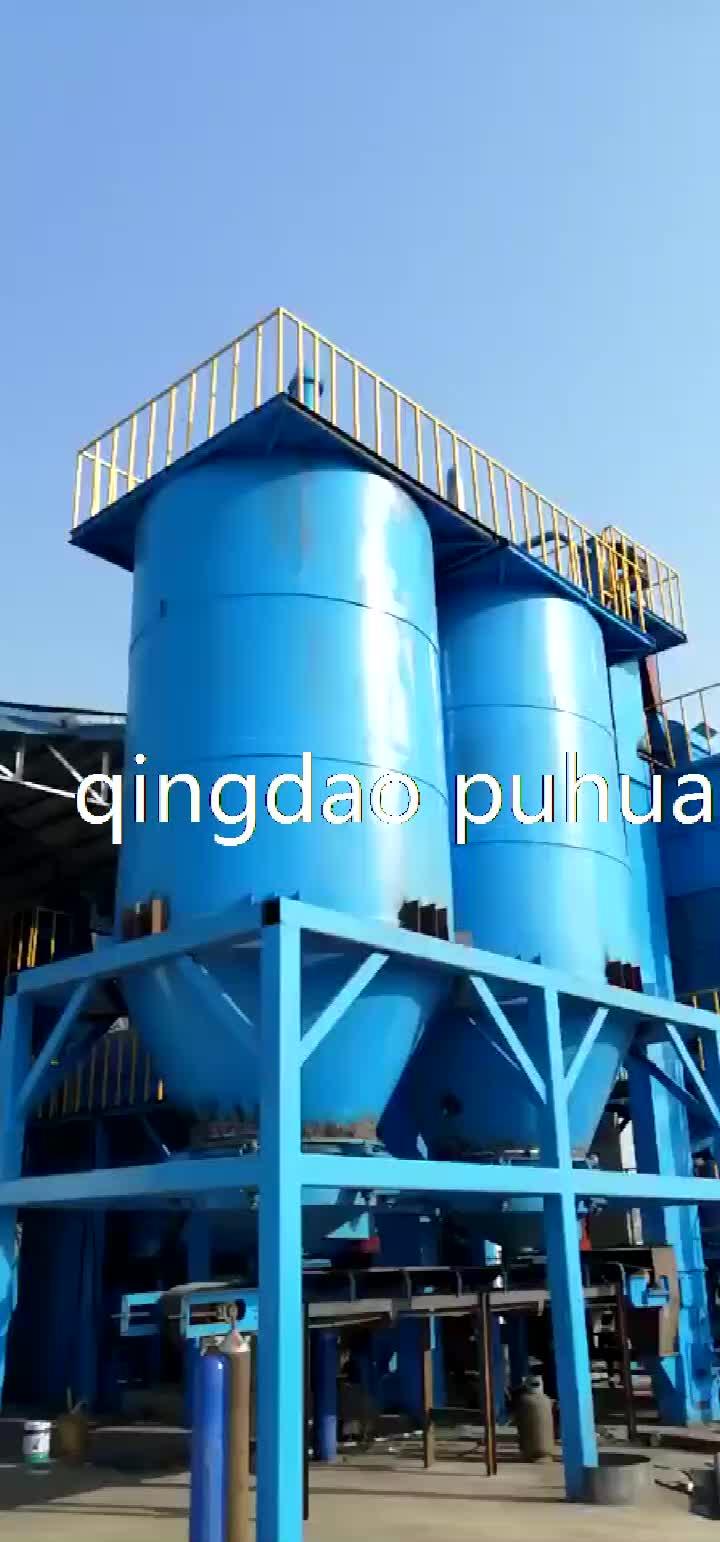 Kil kum işleme üretim hattı/sıkma kalıplama makinesi/çekirdek atış makinesi