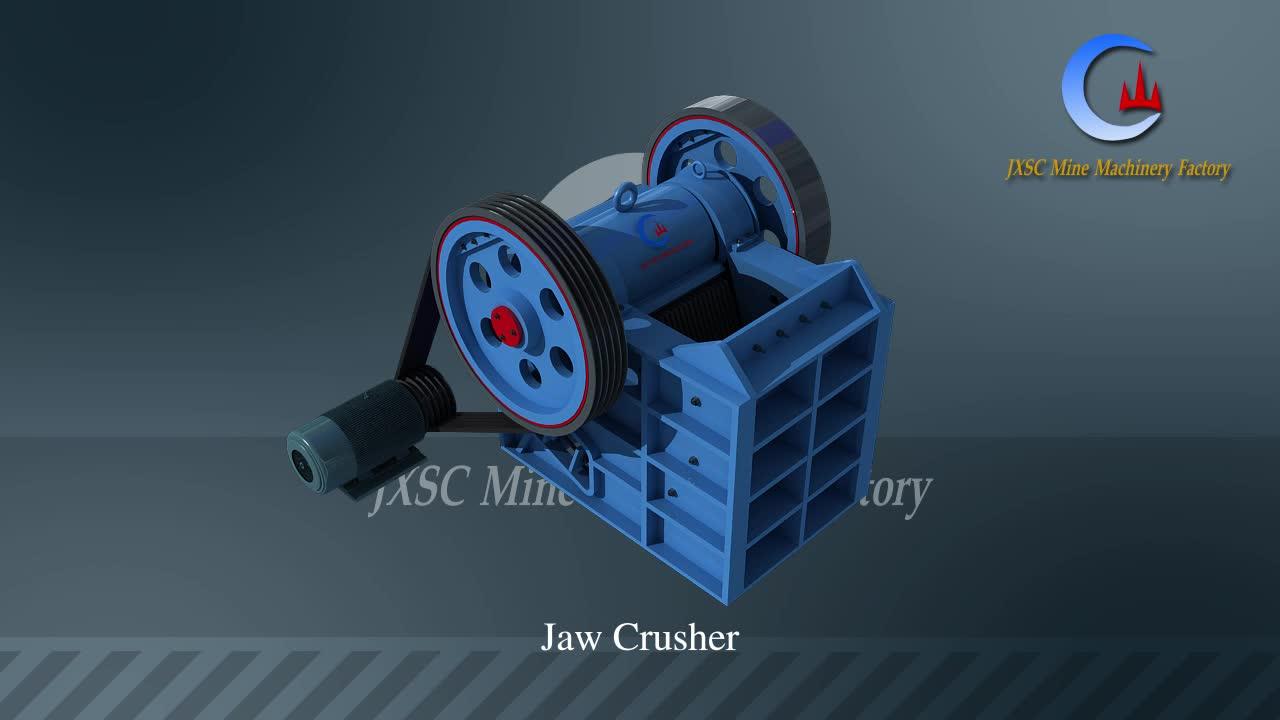 อุปกรณ์การทำเหมืองแร่เครื่องบดหิน Jaw Crusher ราคาสำหรับบดหิน