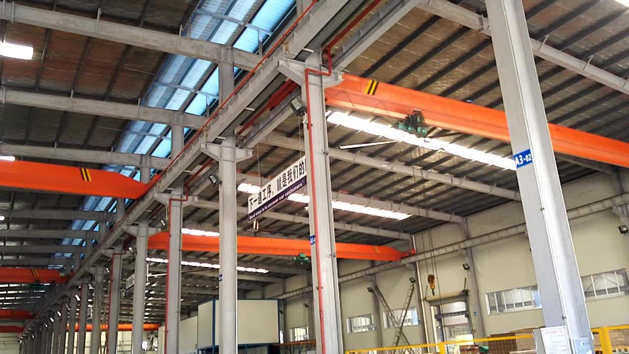 24ft(7.2m) Energy Efficiency Air Cooling HVLS  Industrial Ceiling Big Ass Fan Giant Ceiling Fan For Warehouse