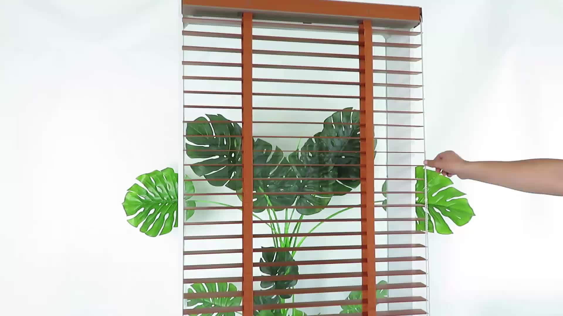 Best selling 25/35/50mm antique home decor basswood wooden venetian blinds