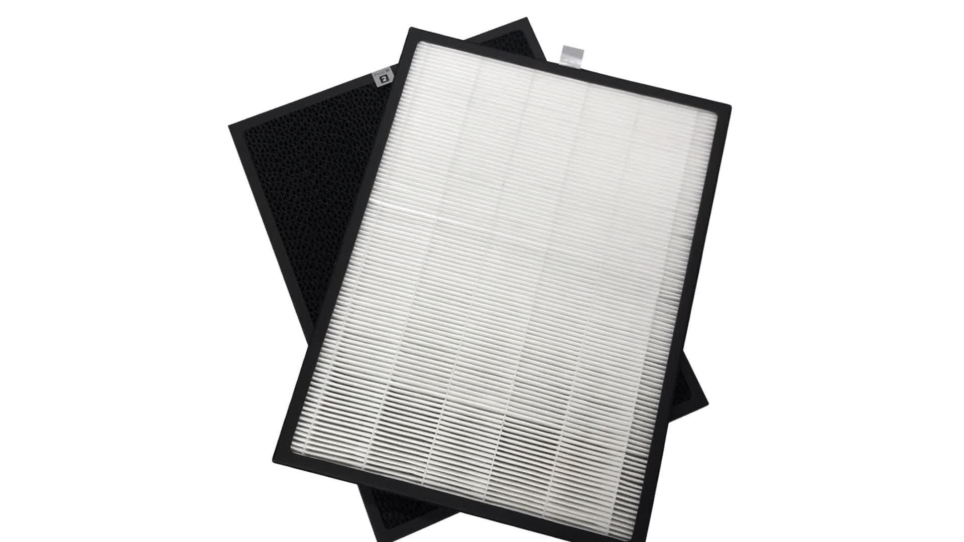 Customized Panel Activated Carbon True HEPA Air Filter Replacement for Air Purifier Parts