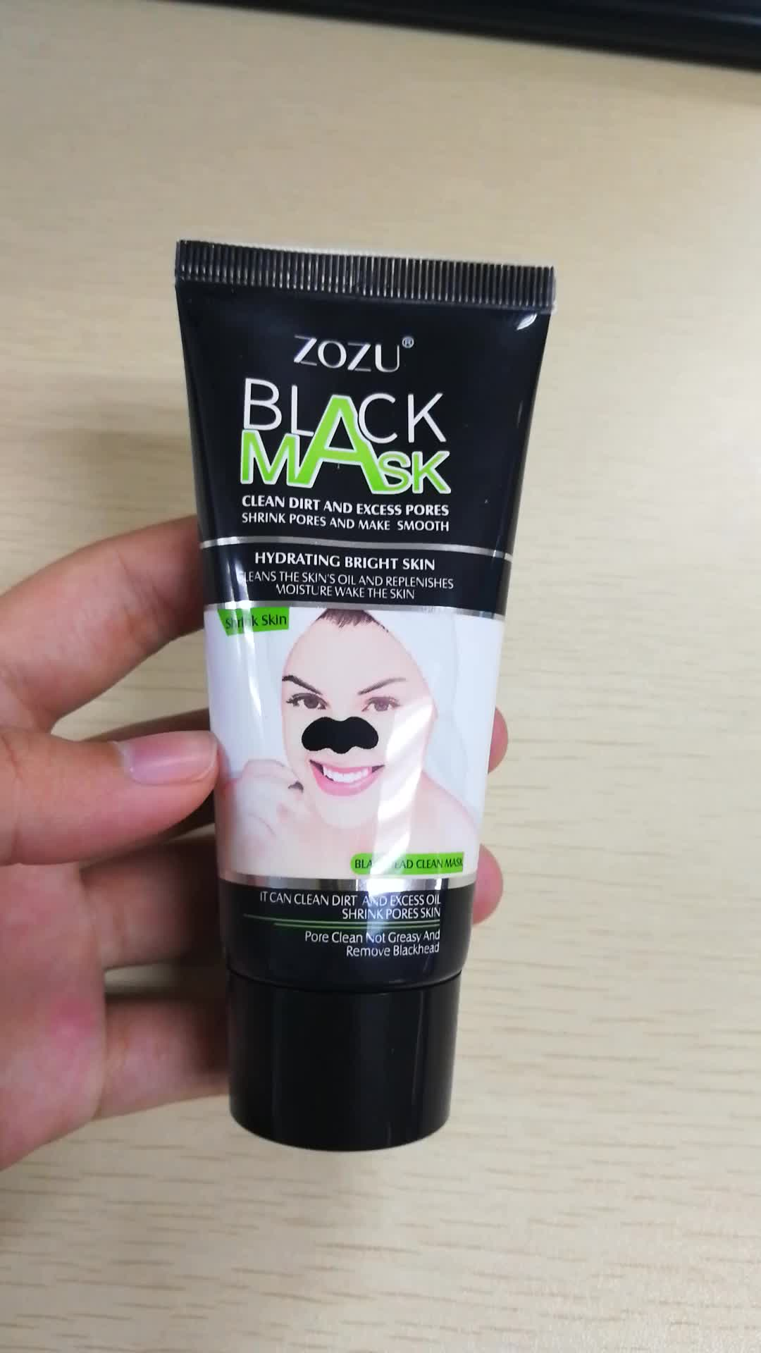 60g ZOZU hydratant enlever les points noirs décoller le masque noir pour le visage