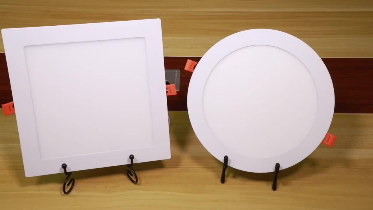 Fabriek Prijs Oppervlak Verzonken Gemonteerd Slanke Ronde Vierkante Led-paneel Licht