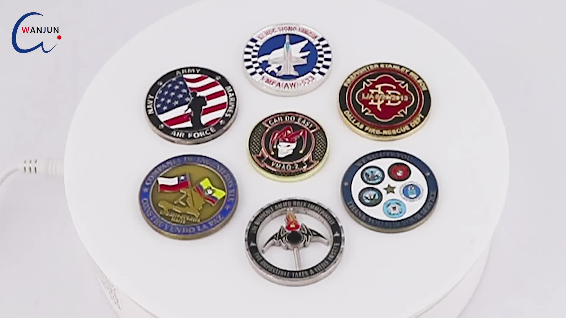 custom cheap metal gold silver commemorative challenge coin