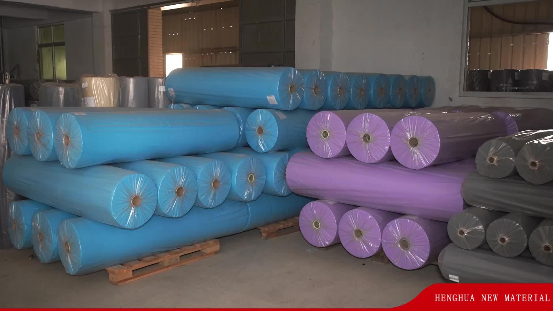 Imperméable tela de tela pp non tissé tissu en chine pp spunbond non-tissé tissu