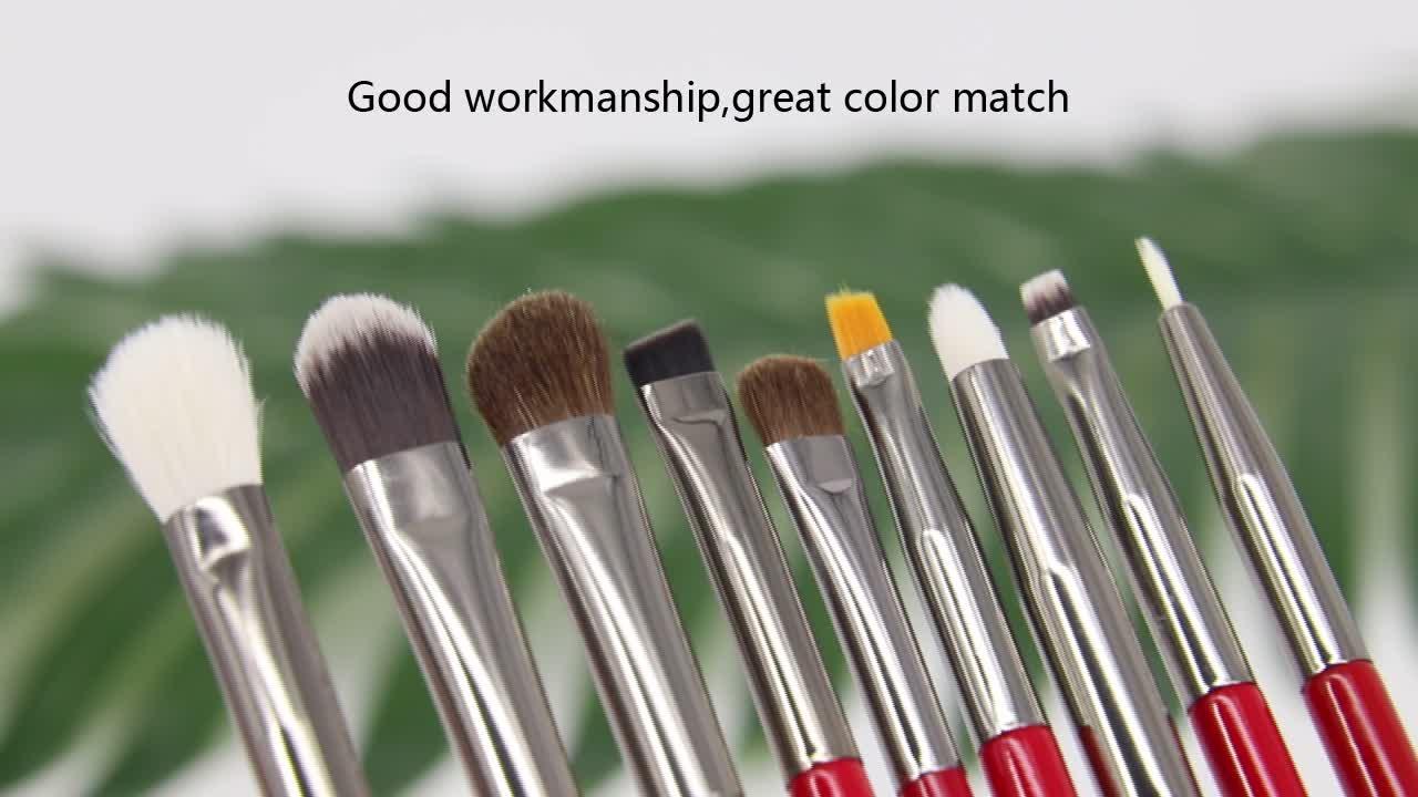 BEILI Brand Red Silver Professional  30pcs natural hair foundation powder eye brow  custom logo Makeup Brushes set Tools kit