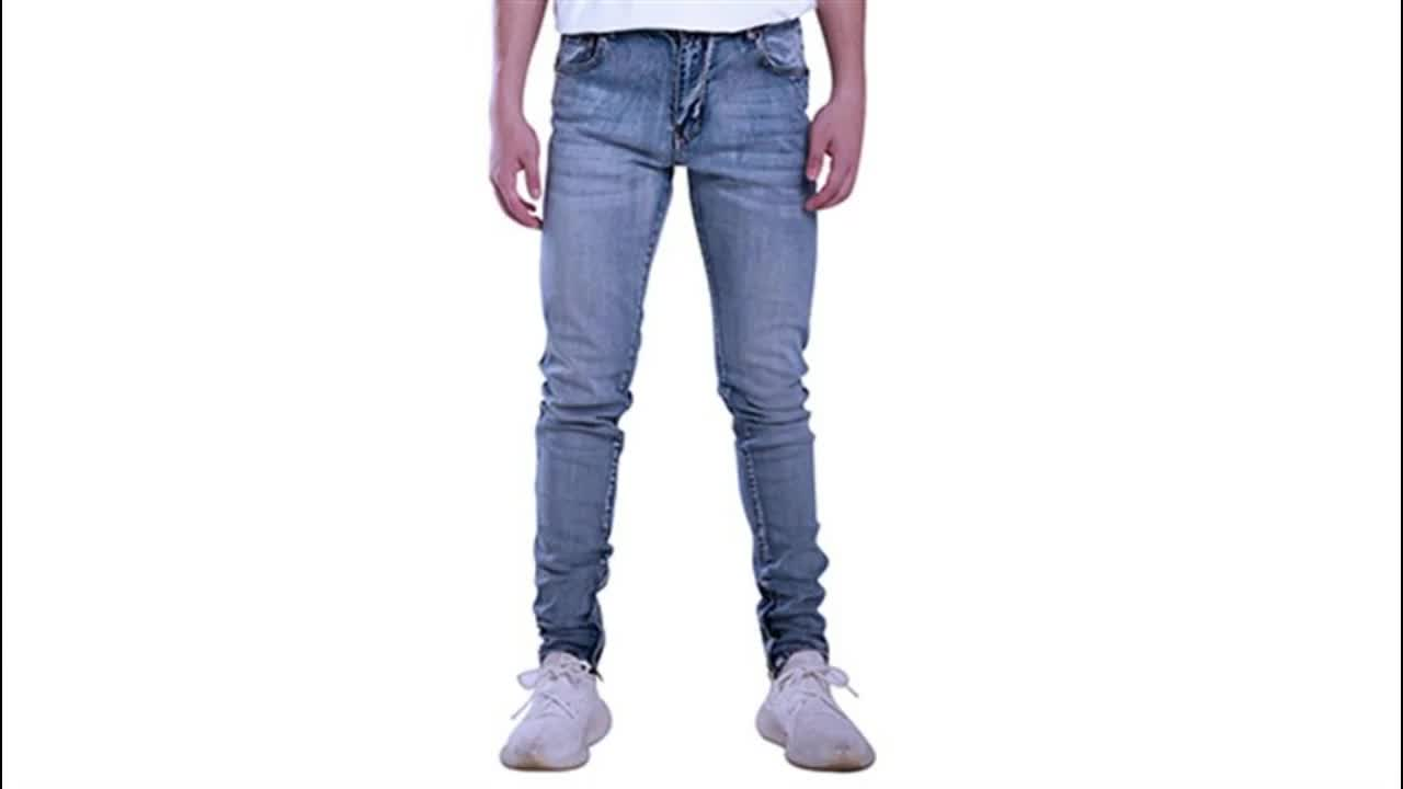 Factory direct slim fit wholesale ripped men cotton jeans