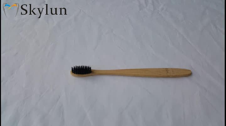 中国カスタム卸売使い捨てエコ天然竹歯ブラシホテル