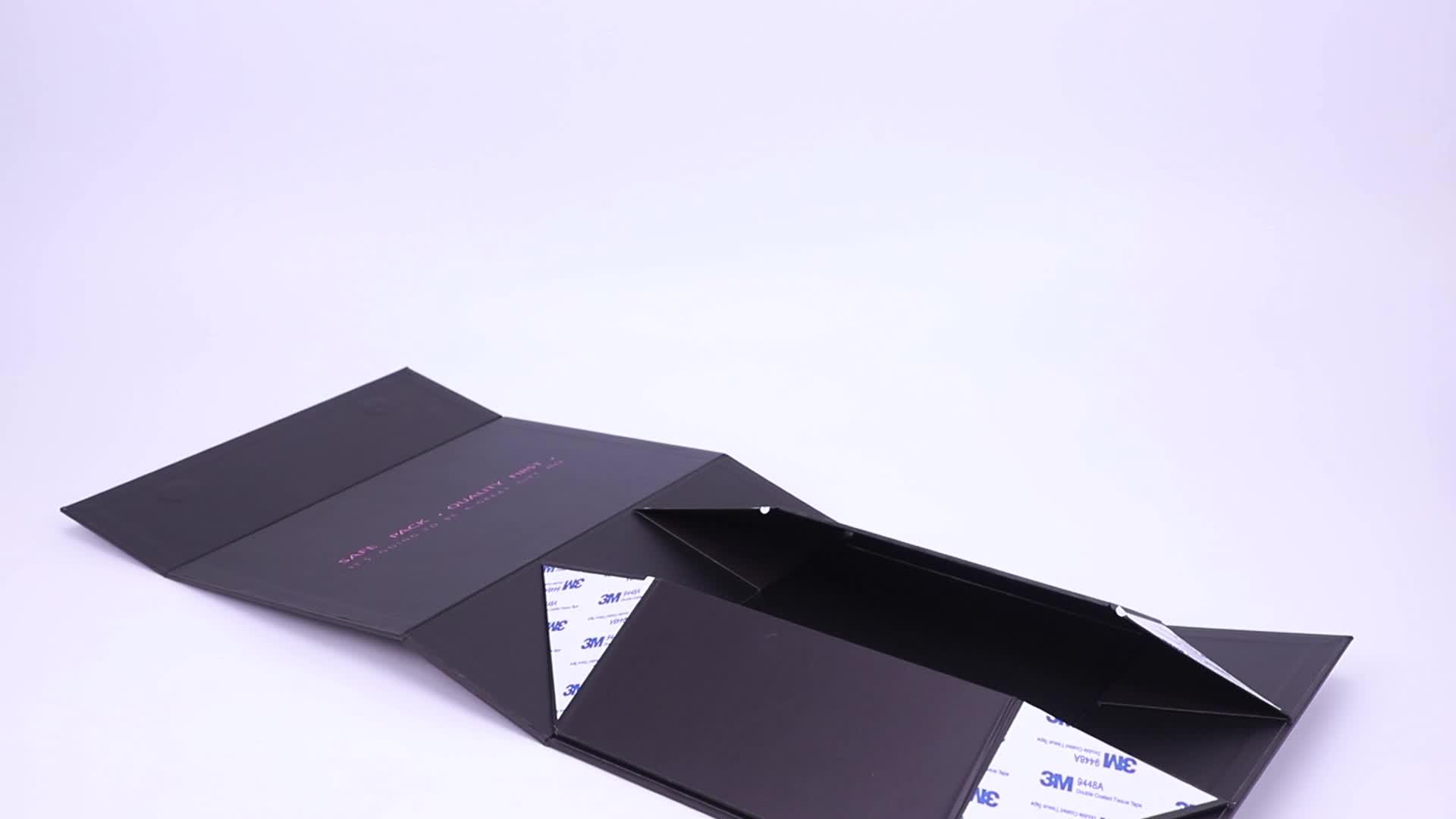 थोक खाली कस्टम लोगो मुद्रित काले फ्लैप ढक्कन हार्ड गत्ता कागज पैकेजिंग Foldable चुंबकीय बंद उपहार बॉक्स