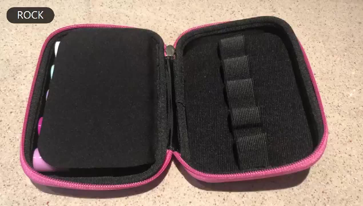 Essential Oil Bag 10 roll on Bottles Carrying Case for Travel