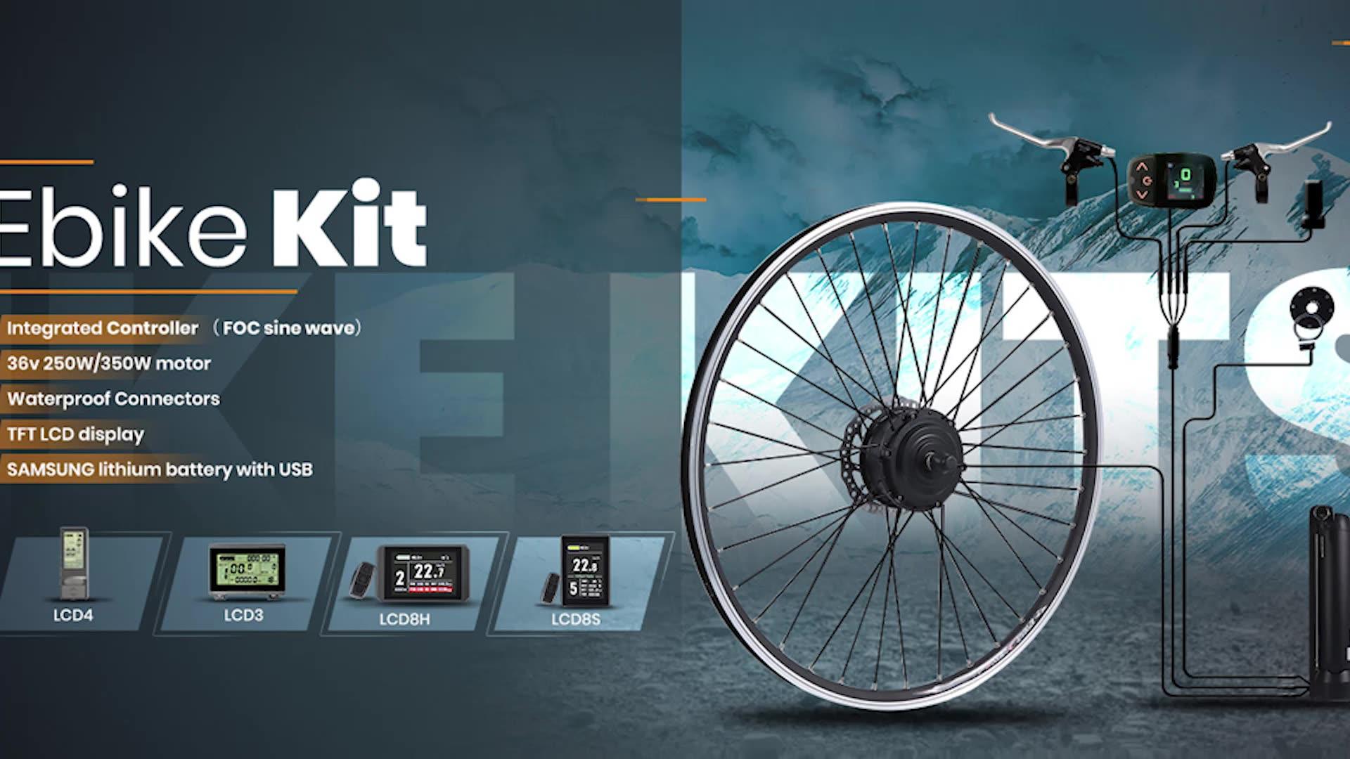 48v 2000w ebike kit de conversão e bicicleta elétrica motor do cubo da bicicleta com bateria