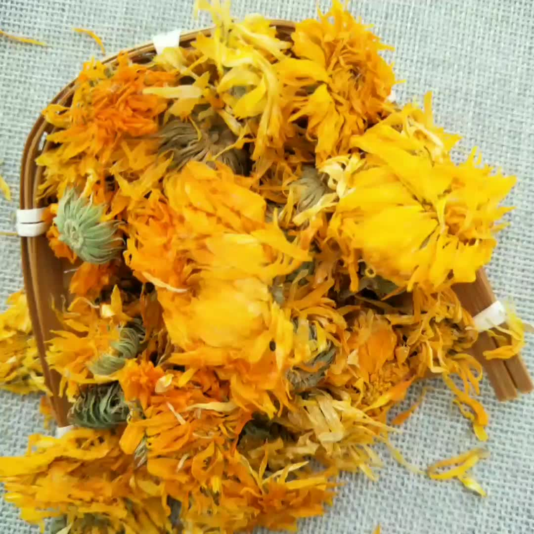 Jin si gong ju Manufacturer Wholesale natural organic bulk Golden Yellow Chrysanthemum tea