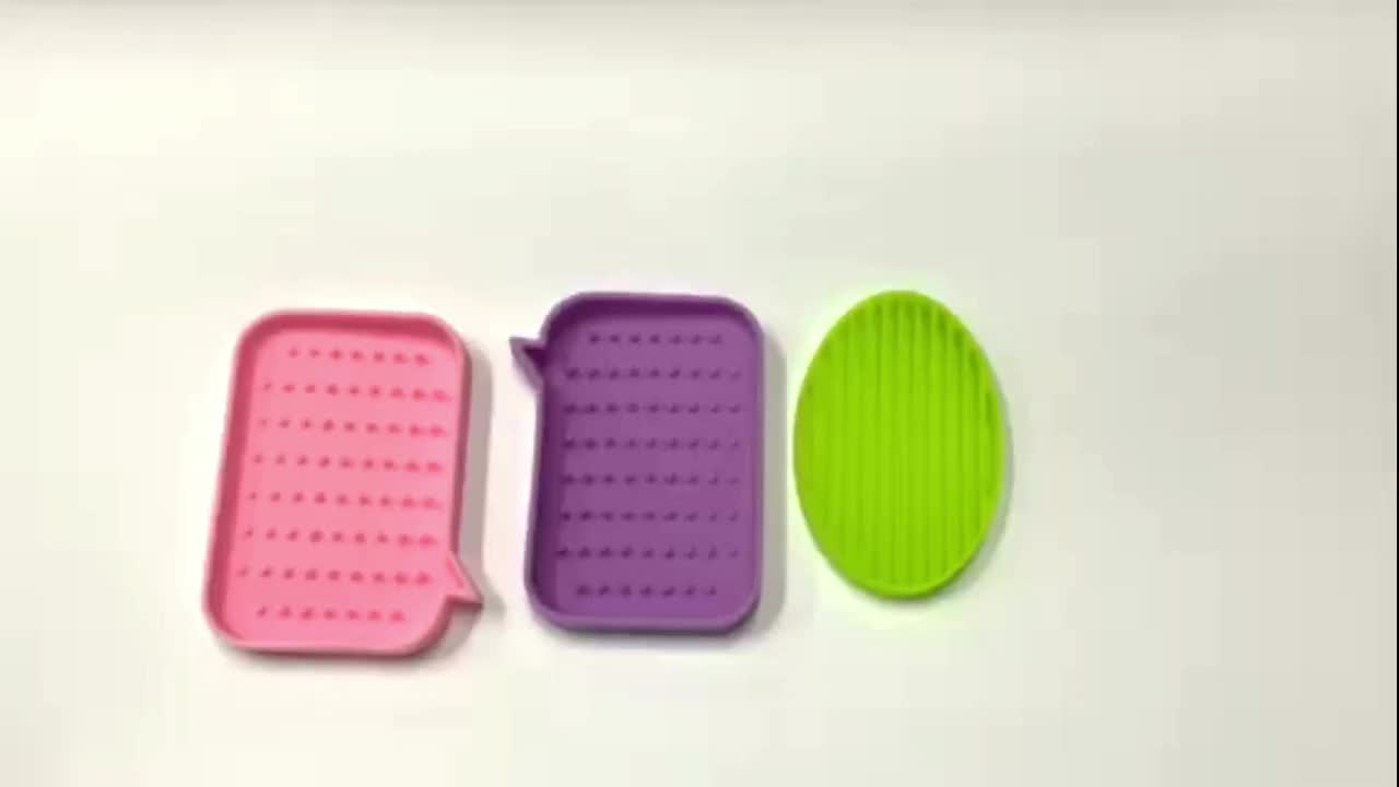 Hot selling eco-friendly silicone soap box for bathroom