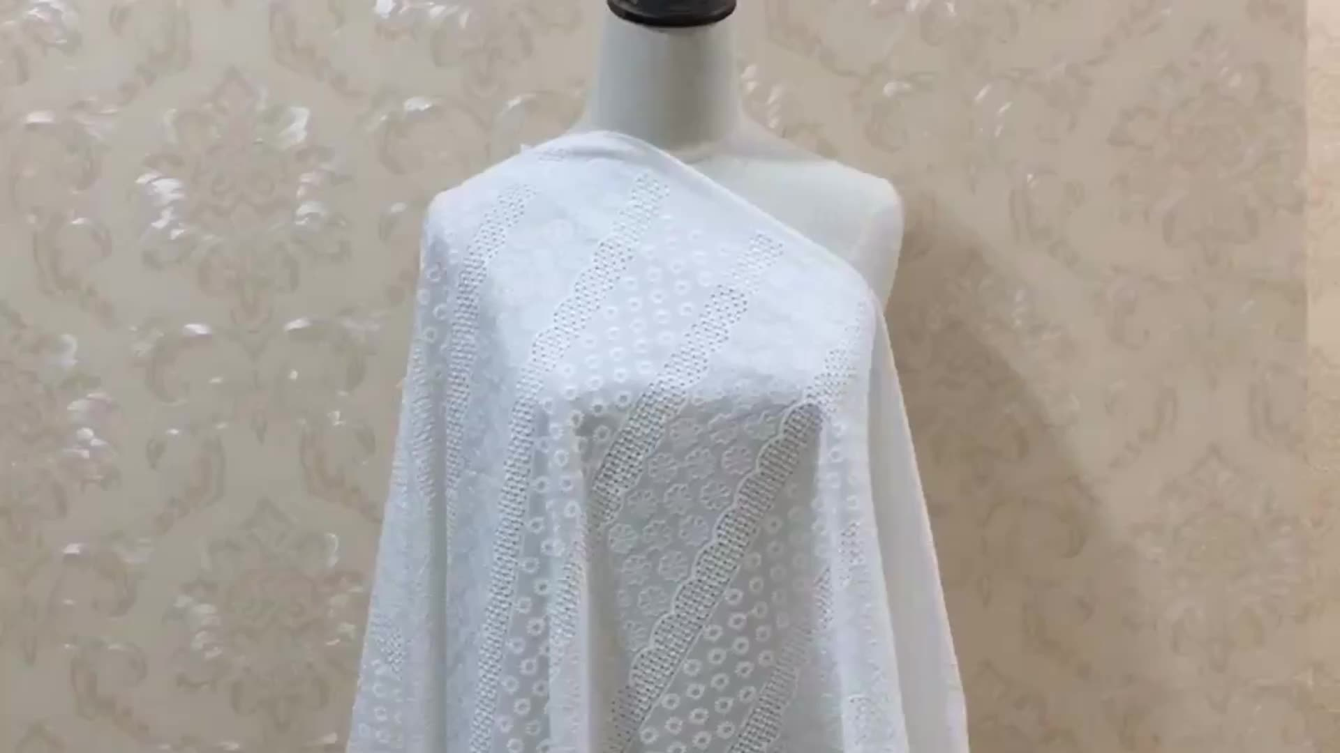 CRF0508 beautiful eyelet cotton eco-friendly baby lace fabric