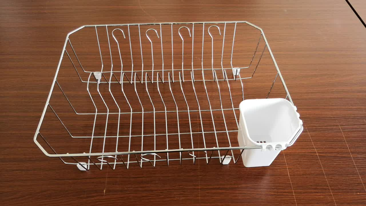 New Arrival Kitchen  single layer Dish Rack Drainer Chrome Steel Sink Racks