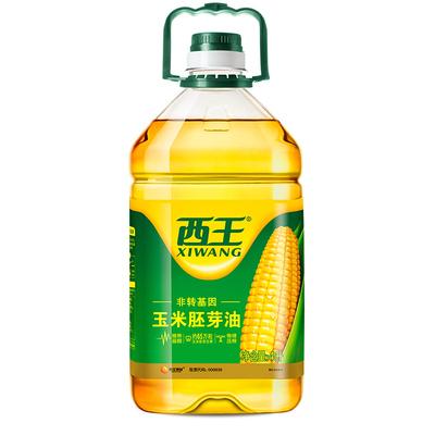 西王玉米胚芽油非转基因玉米油4L物理压榨炒菜家用烹饪食用油