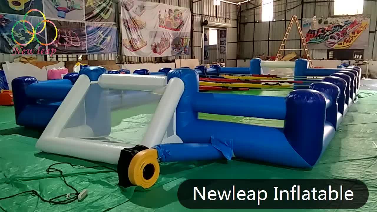 Inflatable football pitch, human table football pitch, inflatable human foosball