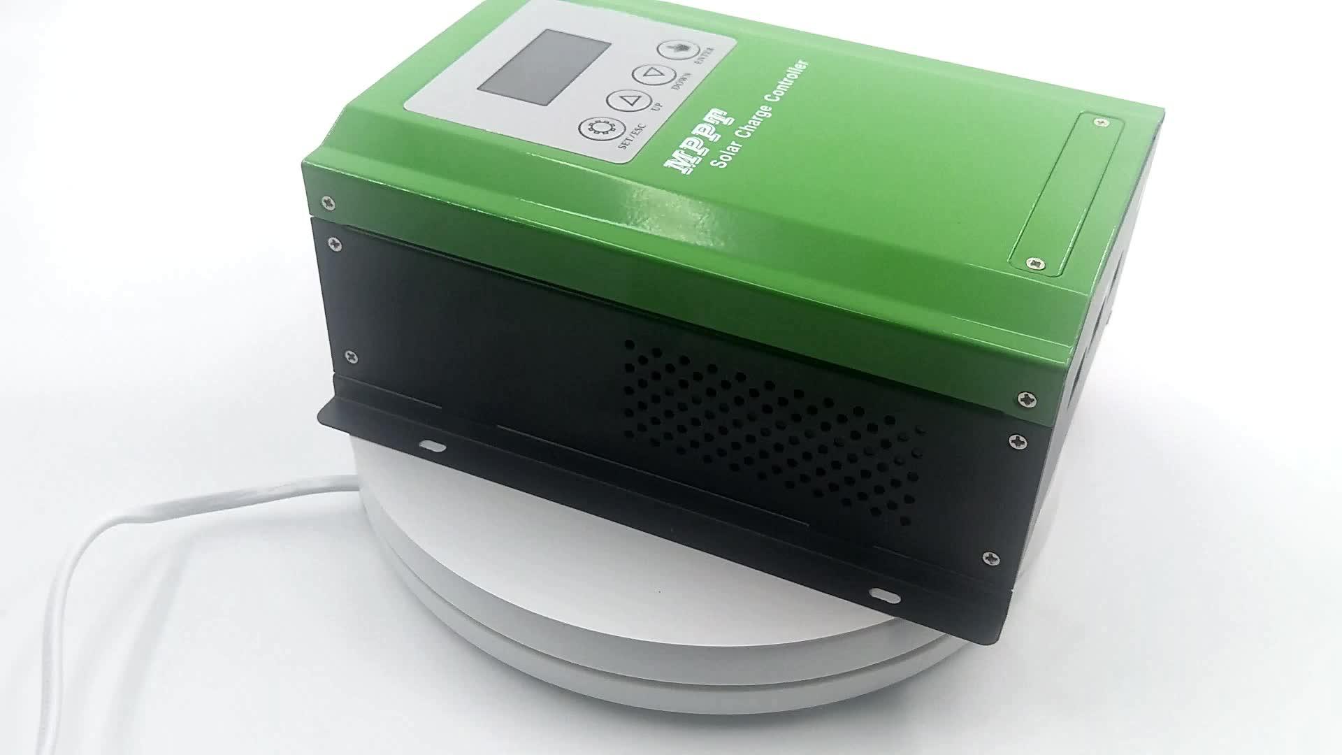 태양계 충전기 12V 24V 48V 60A MPPT 태양 충전 컨트롤러 스마트 냉각 팬