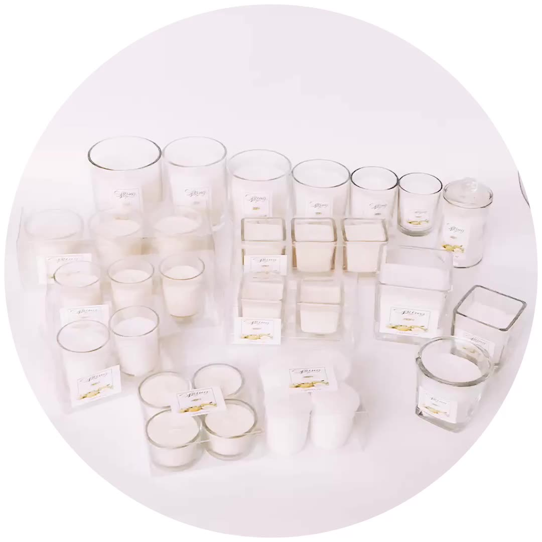 scented glass soy candle