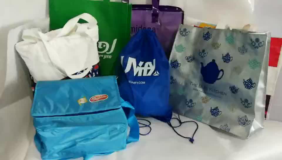2019 ecológico reciclado promocional super grande bonito design personalizado pp saco de tecido com zíper
