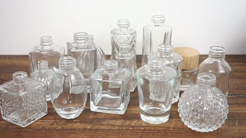 100 ml Düz Yuvarlak Özel yapılmış boş sprey pompası cam parfüm difüzör sprey şişesi