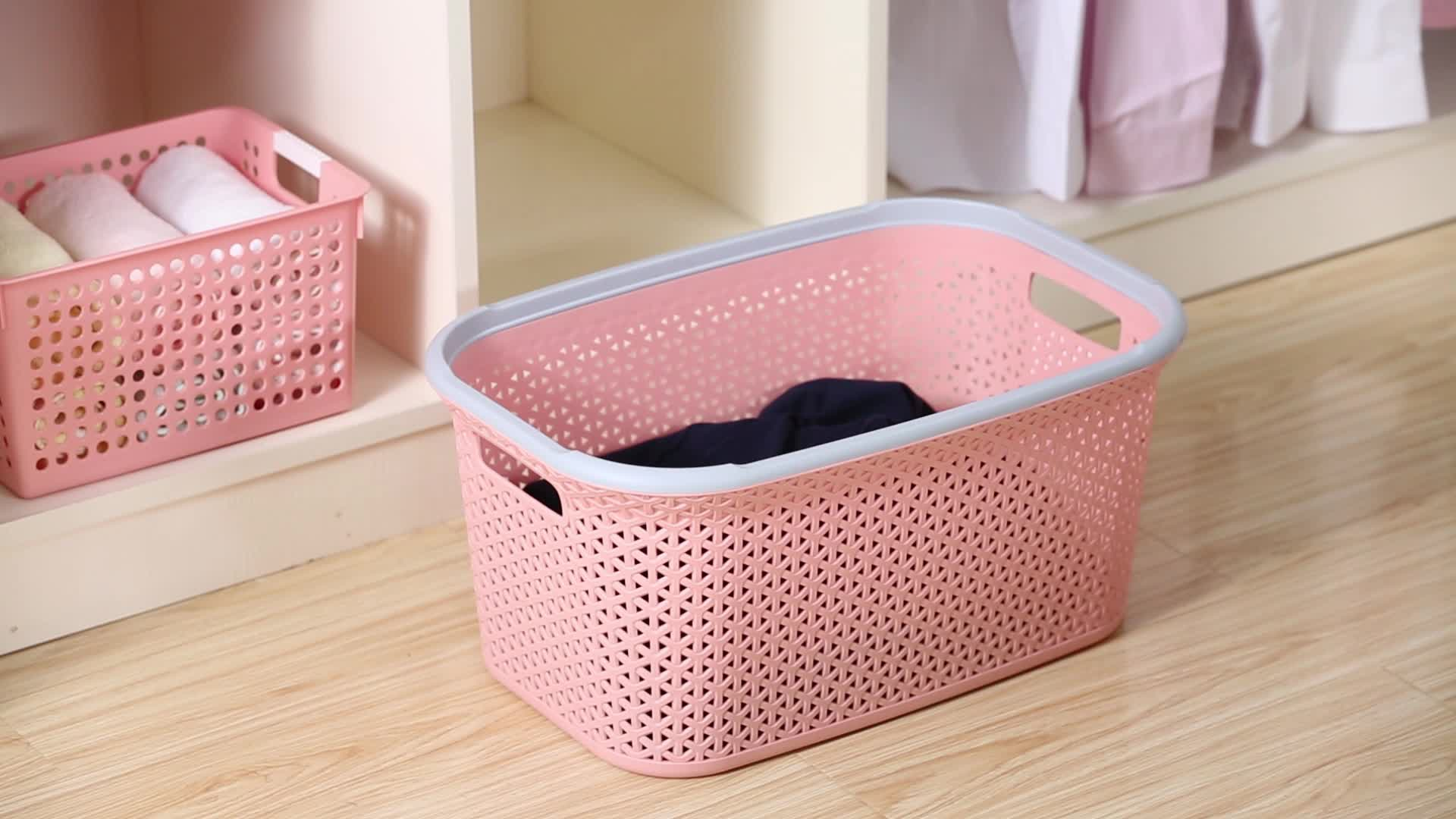 En gros personnalisé vêtements bacs de recyclage de lavage en plastique panier PP panier à linge pour enfants