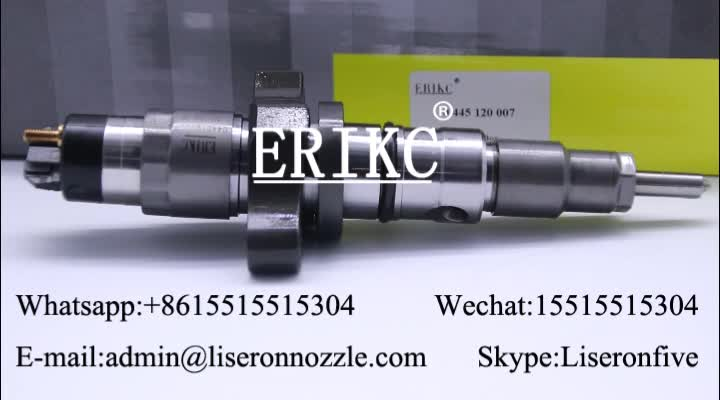 Diesel fuel pump injection 0445120007 common rail injector 0 445 120 007 car auto parts assembly injector for Iveco bosh