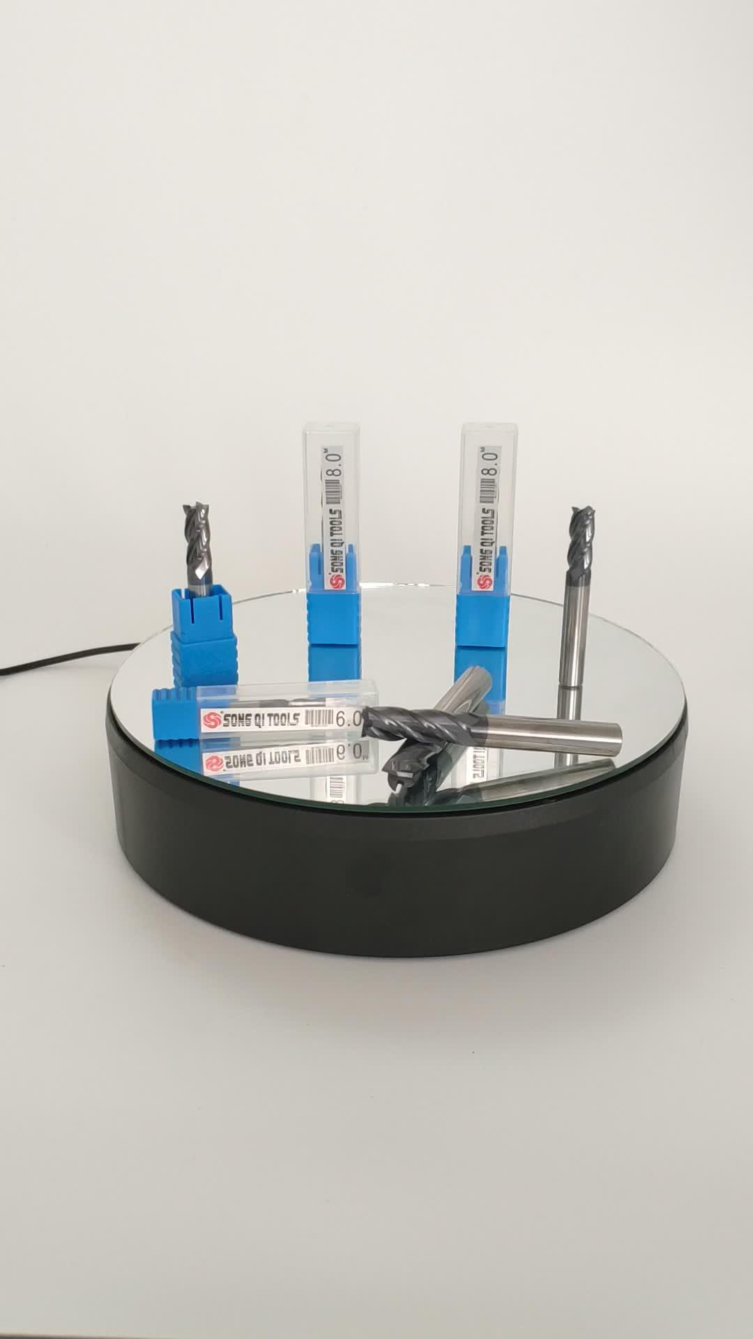 HRC45 Carbide Endmill 4 Flutes Quảng Phay Cutter CNC Máy Công Cụ