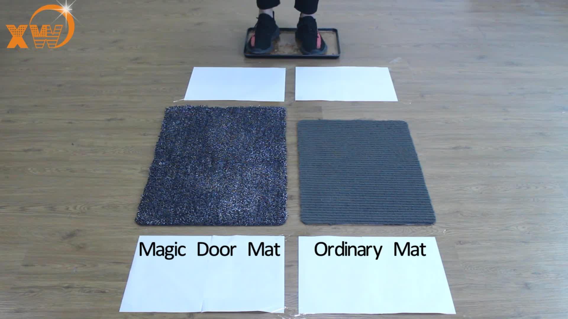 Puerta diseño felpudo super absorbe barro antideslizante puerta mágica mat