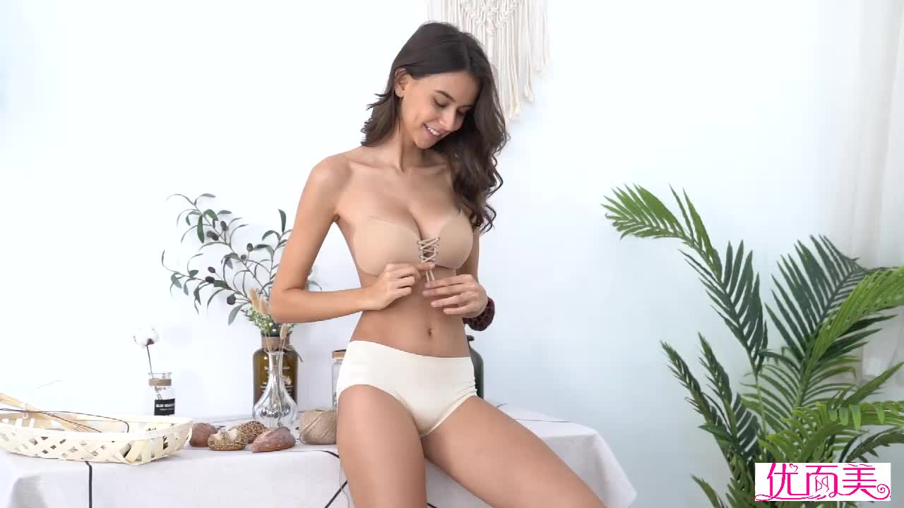Pushup strapless invisible bra seamless silicone bra for women