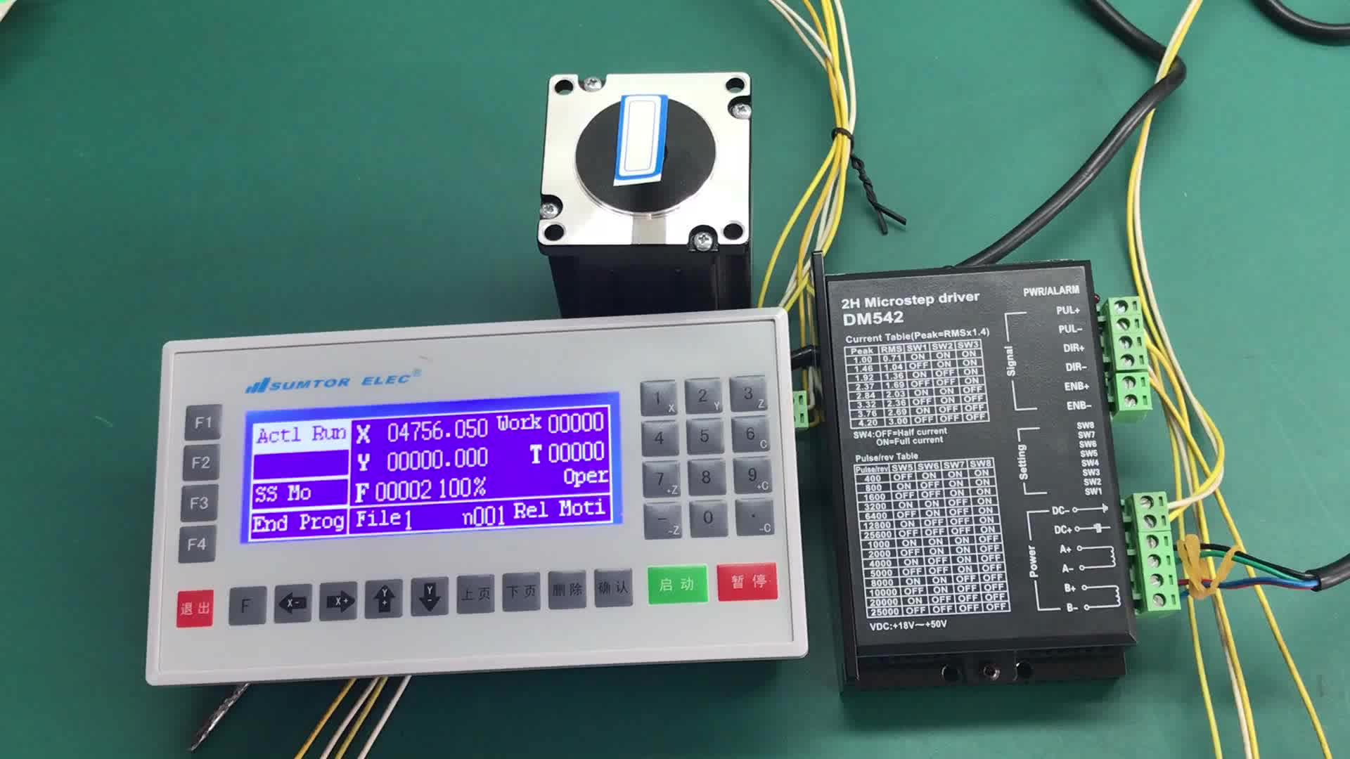 57HS7630B6D8 2phase nema 23 double shaft stepper motor with 8mm diameter and 425oz cnc kit