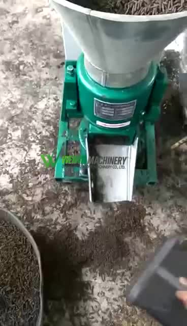 Driven off by shaft capacity 100-150kg/h 9KLP-160 5.5kw poultry cattle feed pellet makers mill machine