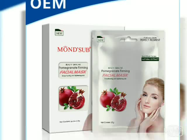 Mond'sub made in china body raw material private label face mask sheet
