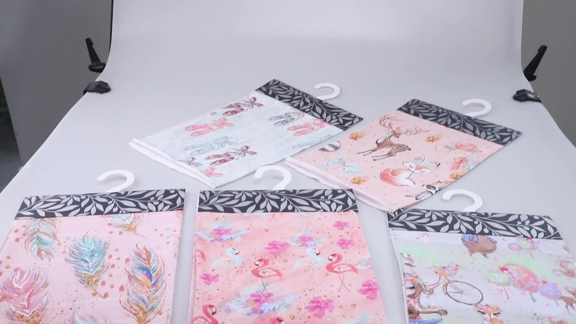 Tươi Sáng Và Màu Sắc Rực Rỡ Dệt Máy In Hoa Tùy Chỉnh In Bông Lycra Vải Cho Quần Áo Trẻ Em