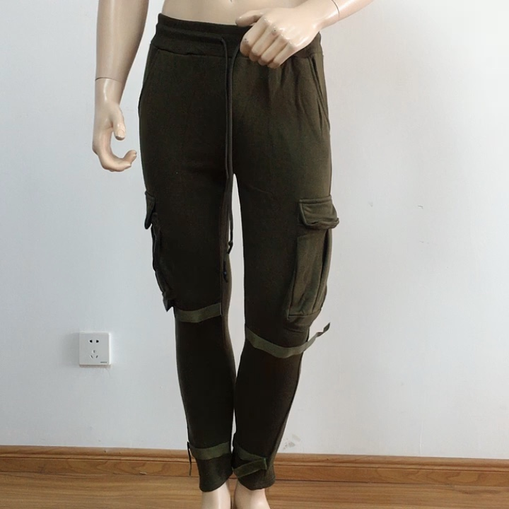 Wholesale street wear mens bottoms custom cargo jogger pants