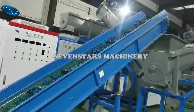 Sevenstars Recycling All Kinds of Pp / Pe Plastic Film Bags Half-plasticized Squeezing Dryer Machine
