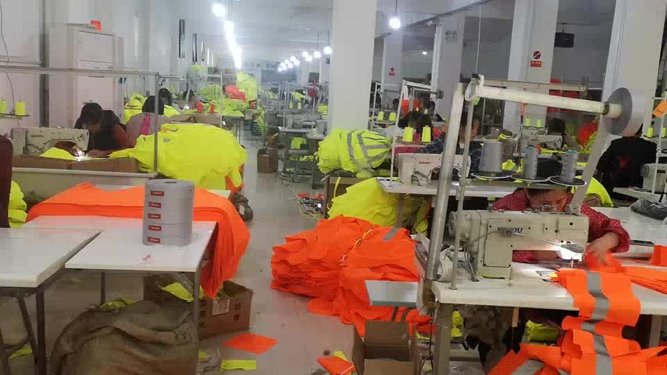 Riflettente di sicurezza Della Maglia ANSI/ISEA Standard/S-5XL/Giallo/Giallo Arancione/Rosso Verde Rosa di alta visibilità maglia