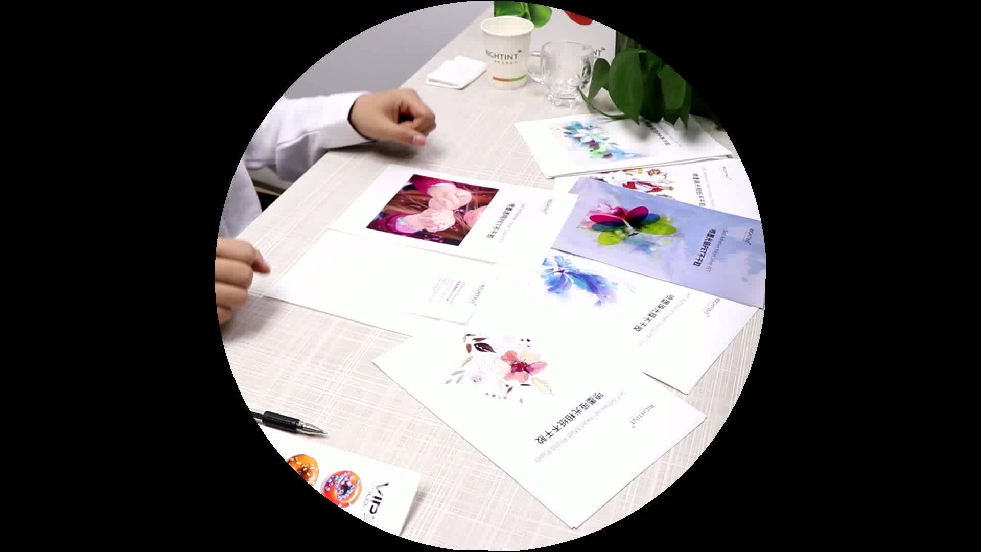 Mürekkep püskürtmeli PET Şeffaf Baskı Polyester Kendinden Yapışkanlı Film