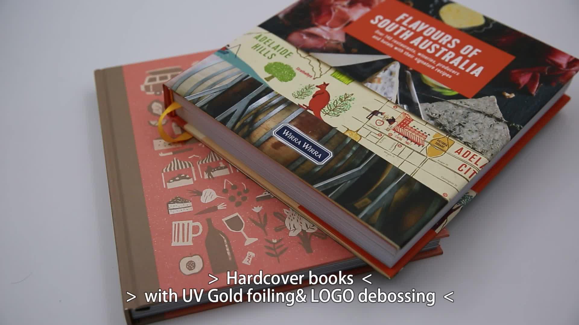 Gigo con Copertina Rigida di Colore Completo di Stampa Del Libro di Stampa Professionale di Fabbrica su Misura Hardcover Stampa Del Libro