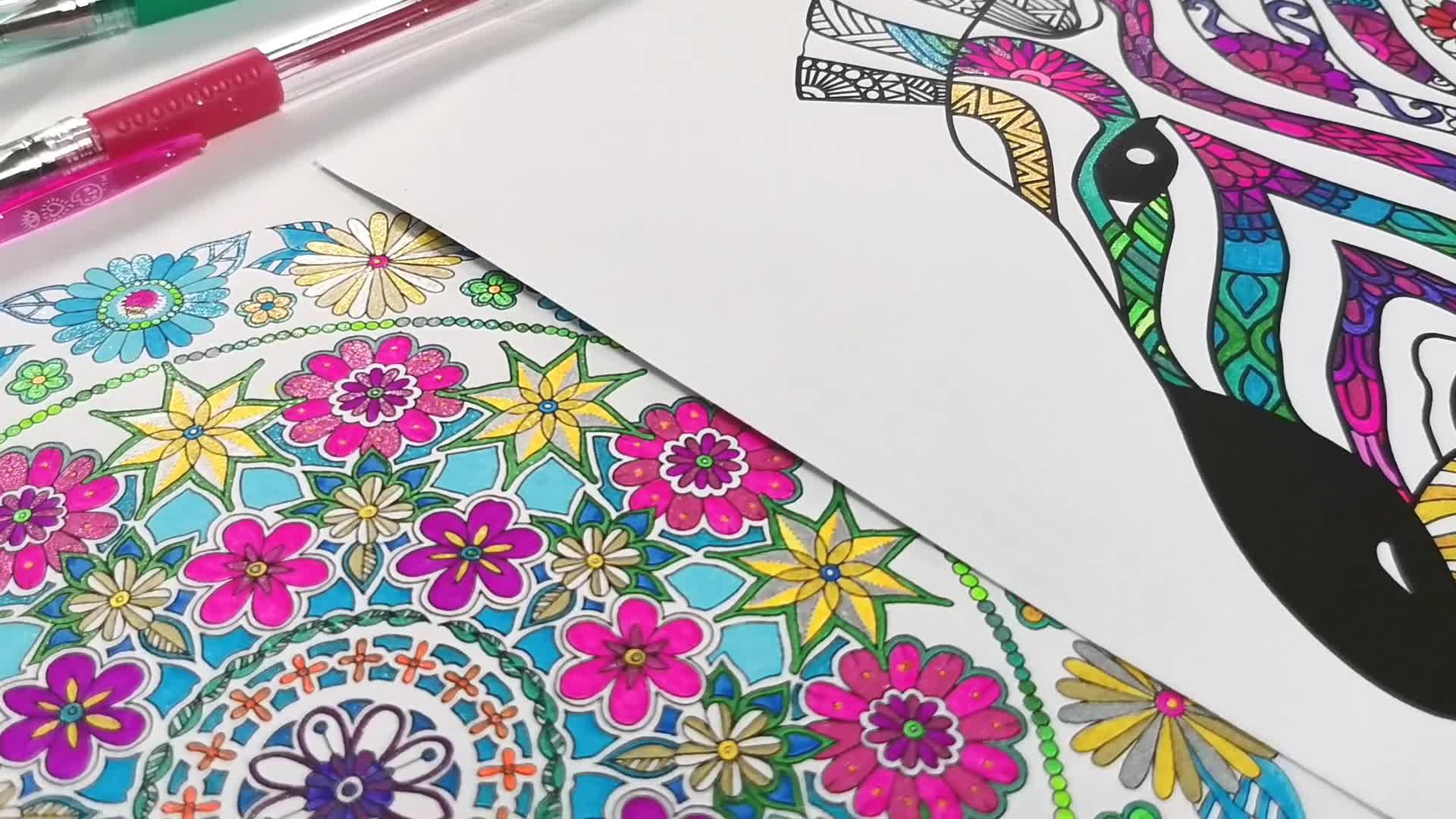 24 artista Glitter Colour Gel Penne con In Più Altri di Inchiostro