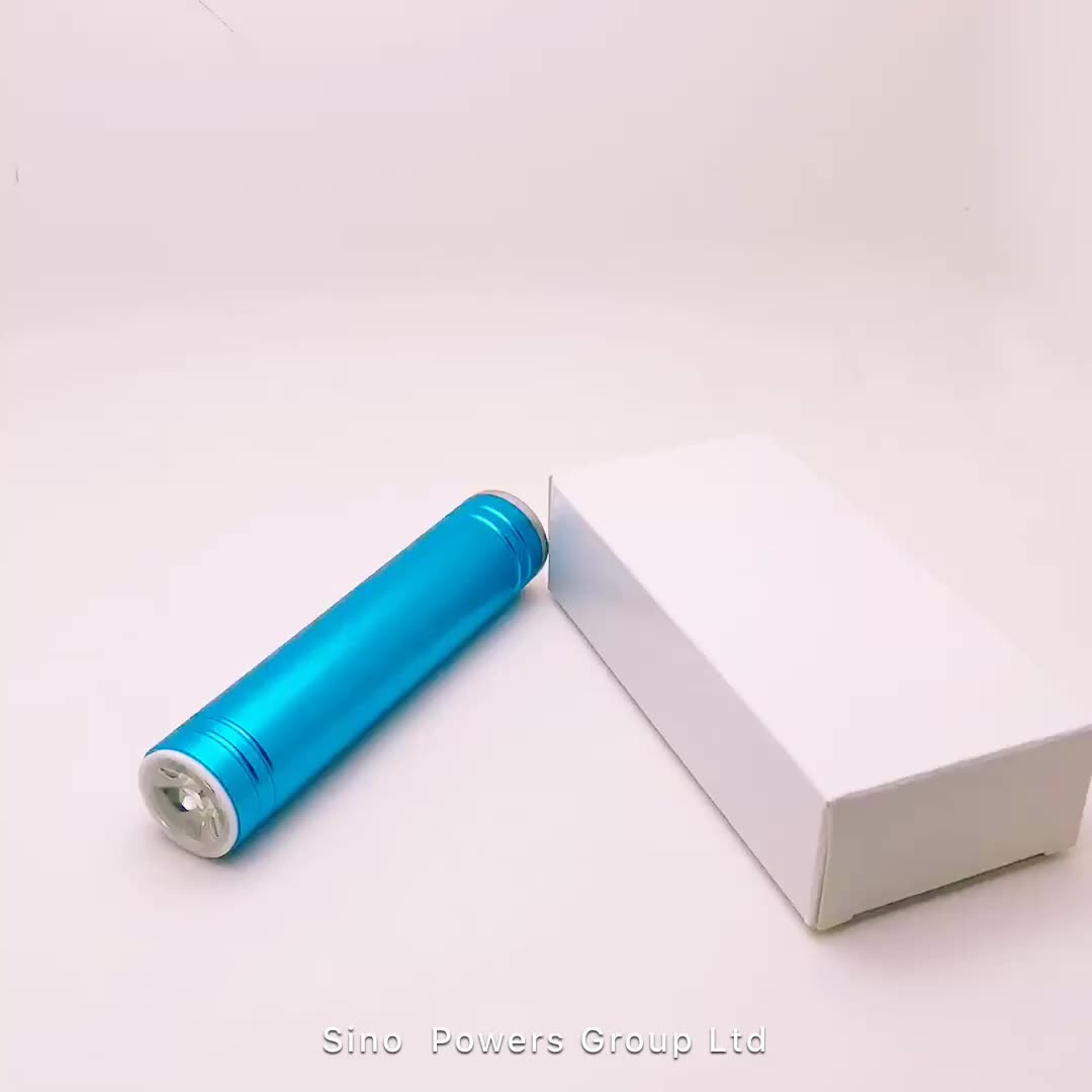 Customized 2600 mAh Power Bank with LED For Smartphone
