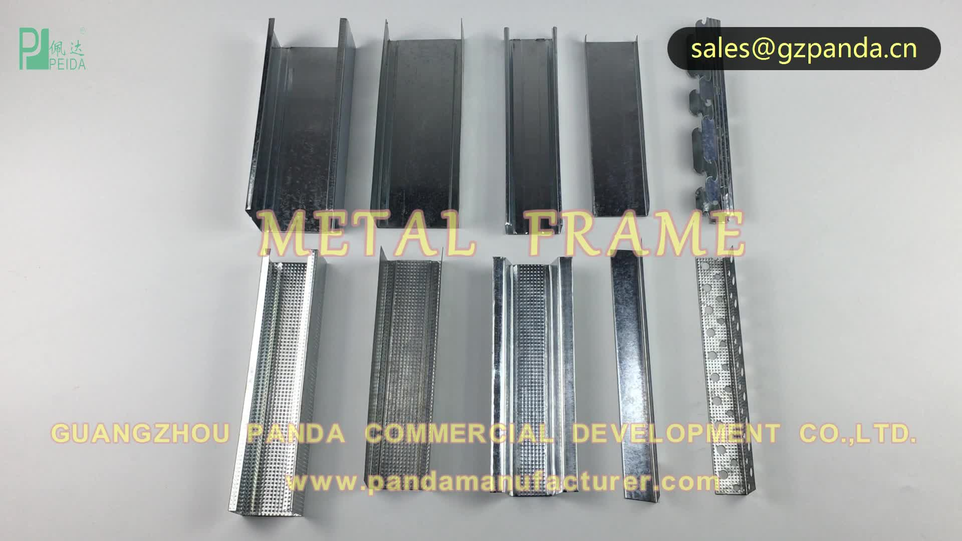 Drywall Channel C Galvanized Light Steel Keel Profiles Metal Stud and Track