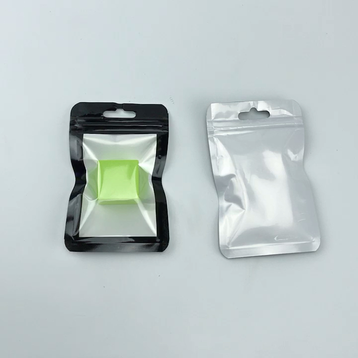 Printing Transparent Zipper Charger USB Packing Bags Earphone Data Line Flat Packaging Bags
