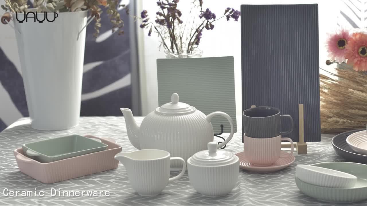 Biểu tượng cá nhân pots cà phê lớn 1400 ml trắng sứ tea pot cho nhà hàng
