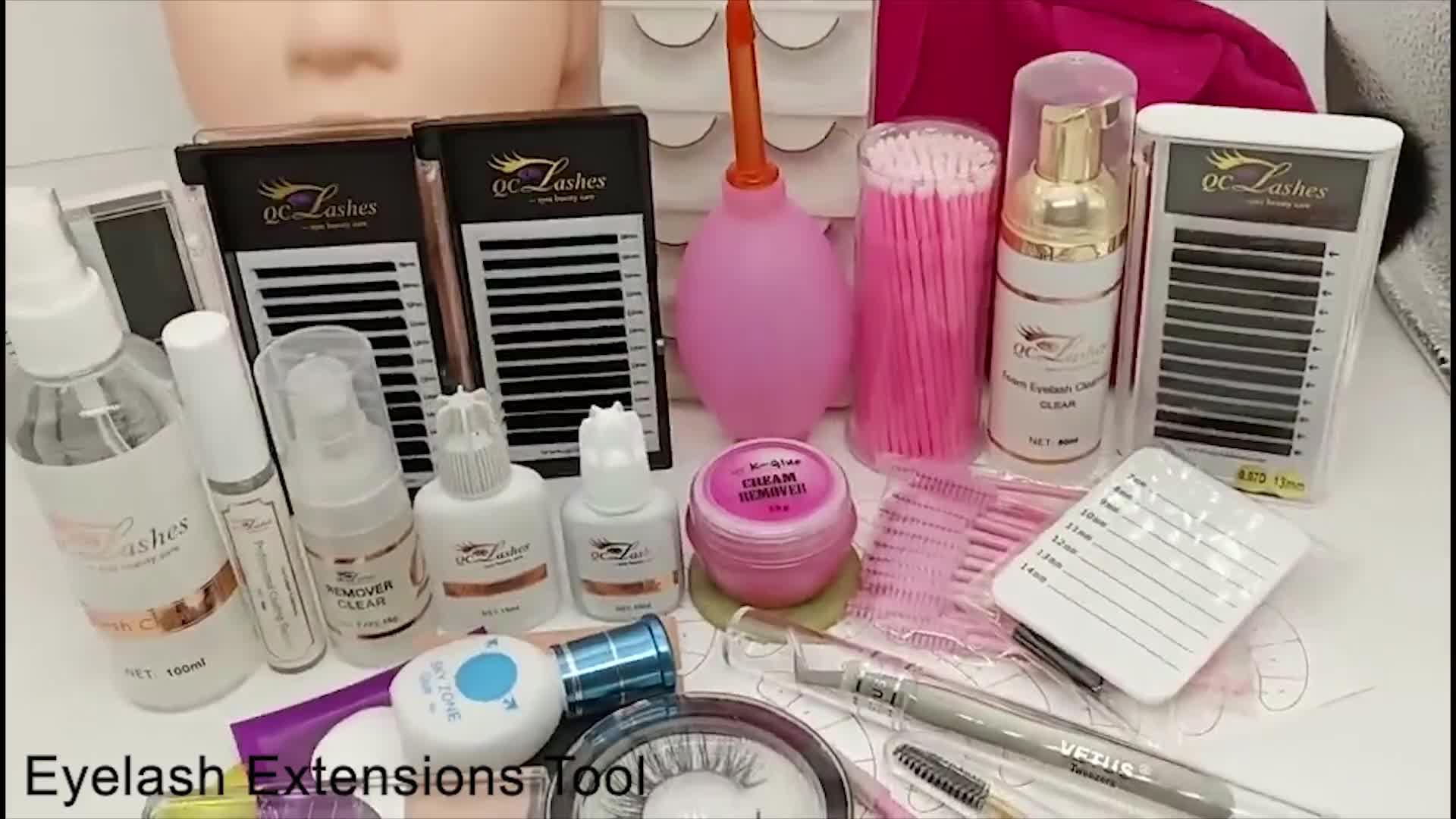 Wholesale matte Korean PBT Natural Long Individual lashes 3d Silk/Mink private label extension eyelash